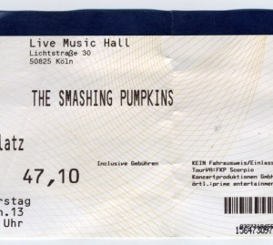 Ticket Smashing Pumpkins Cologne Germany